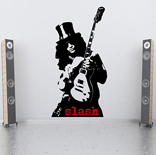 Slash Pro Design Wand-Tattoo/Wand-Aufkleber, Motiv: Guns Roses-Gitarre, Gibson N' (Tattoo Gun Aufkleber)