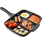 VonShef All in One Frying Pan / 4 in 1 Multi Section Grill/Breakfast