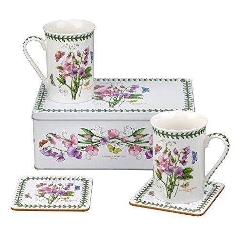 Botanic Garden Sweet Pea Motiv 5teiliges Kuchendosen-Set, Porzellan, mehrfarbig, 8,5x 12x 9,5cm -