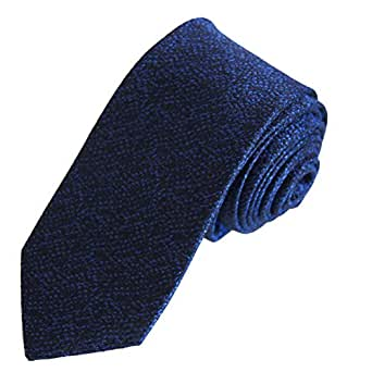 WILLIAM HUNT Savile Row - 100%  soie de cravate Cravate fine unie-noir/bleu