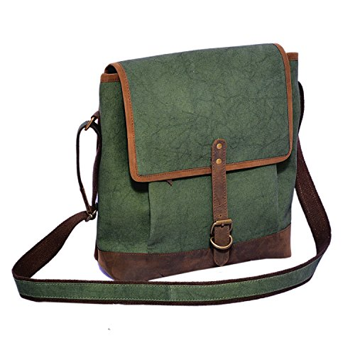 Craft Play Handicraft Olive Green Color Canvas Laptop Bag/Travel Bag