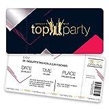 Einladungskarten zum Geburtstag - Germanys Next Top Party | 80 Stück | Inkl. Druck Ihrer persönlichen Texte | Kindergeburtstag | Individuelle Einladungen | Einladungskarte Mädchen | Karte Einladung