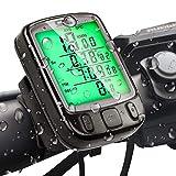 Gibot Fahrrad Tachometer Kilometerzähler Fahrradcomputer wasserdichte Hintergrundbeleuchtung Display Geschwindigkeitsmessung ist für das Radfahren geeignet