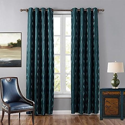 Camera familiare luce della finestra di blocco di isolamento tende di lino jacquard decorativo finito , c21170 , 52x95inch (132x241cm)