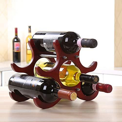 Botellero HX Adornos decorativos europeos creativos Imitación Estante for botellas de madera...