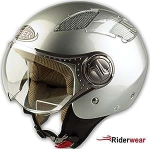 RS-16 Open-face Jet helmet Silver Size L (59-60 Cm)