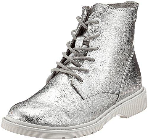 s.Oliver Damen 25465 Combat Boots, Silber (Silver), 39 EU