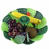 Generic Foldable Steamer Fruit Basket Filter Water Basin Fruit Plate