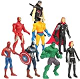 #2: 8 in 1 Twist and Move Avengers Super Heros Action Figure Play Set Iron Man Captain America Hulk Thor Black Widow Spiderman Hawkeye