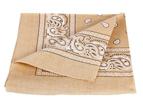 Bandana beige paisley multifunzione classica BA-69 di colori diversi foulard scialle collo rocker biker motociclista motorcycle pirata accessorio hip hop cappellino cowboy bracciale