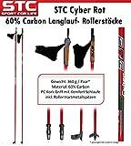 Skate Blade, Rollerstöcke, Nordic Skating Stöcke STC Cyber 60% Carbon 160 cm