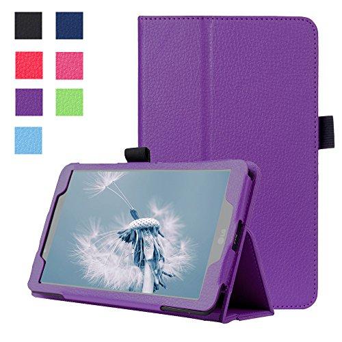 Forhouse Hülle LG G Pad 2 8.0 V498, PU Ledertasche Flip Magnet Etui Mit Standfunktion Ultra Schlanke stoßfest Schutzhülle für LG G Pad 2 8.0 V498 (Purple)
