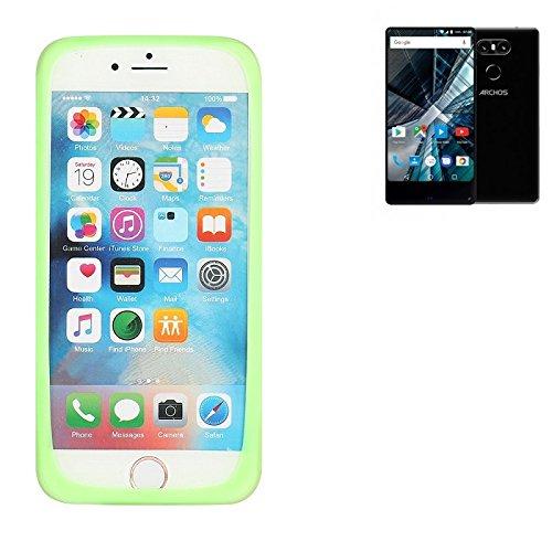 K-S-Trade Für Archos Sense 55 S Silikonbumper/Bumper aus TPU, Grün Schutzrahmen Schutzring Smartphone Case Hülle Schutzhülle für Archos Sense 55 S