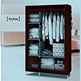 #2: GTC 4+1+1 Layer Fancy And Portable Foldable Closet Multipurpose Wardrobe (Need To Be Assembled) 105NT (Brown)
