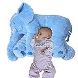 Plüschtier Elefant Kuscheltier zum Einschlafen Baby Kleinkind Plüschelefant aus flauschigem Plüsch 68 cm hellblau