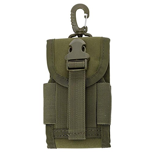 pawaca Universal Outdoor Tactical MOLLE Gadget Utility Pouch Smartphone Holster mit Gürtelschlaufe für Wandern, Camping, Klettern, Radfahren, Radfahren und Reisen, Army Green Gadget-holster