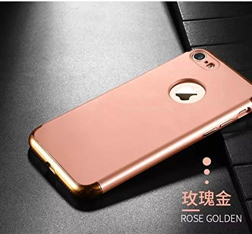 iPhone 7 Case, JOYROOM 3 in 1 Ultra Thin and Slim Design Coated Premium Non-Slip Surface Shockproof Resist Cracking Electroplating PC Skin Protector for iPhone 7(Rose golden) Rose golden