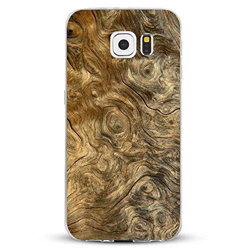 Alsoar Samsung Galaxy S6 Edge Plus Hülle, Marmor Wood Weiche Flexible Crystal Ultra dünn Fit TPU Gel HandyHülle Case Kratzfest Stoßfest Premium Schutzhülle für Samsung S6 Edge Plus (Baumring) Flexible Gelee
