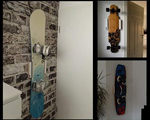 Universal Wandhalterung für Longboard Snowboard Wakeboard Halterung Wandmontage Wandhalter Halter Holz