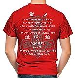 AXT & Schwert Männer und Herren T-Shirt | Vikings Wikinger Ragnar ||| FB (M, Rot)