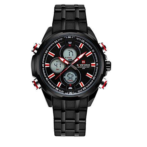 Zeiger orologio da uomo Quarzo-Analogico numerico Digital-Indice