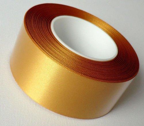 SCHLEIFENBAND 25m x 40mm Satin GOLD Geschenkband DEKOBAND Satinband GOLDBAND - 40 X 25 Satin