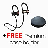 Bluetooth Headphones, PowerLocus Wireless Bluetooth V4.1 Running Wireless Sweat and Waterproof Sports Noise Cancelling Earphones Lightweight Headset Stereo Earbuds, with Mic for Running (Black/Silver)