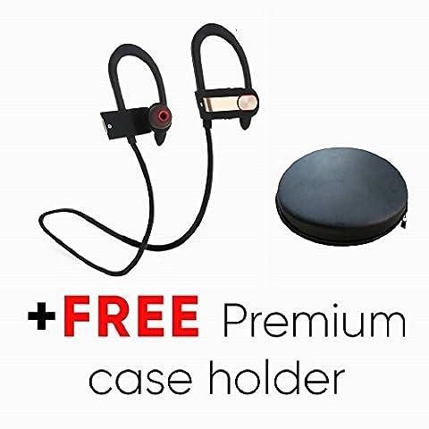 Écouteurs Bluetooth, PowerLocus Bluetooth V4.1 Casque de Sport Oreillette sans fil Stéréo Fonctionnant résistant à l'eau et à la sueur compatible avec Apple iPhone, Android,