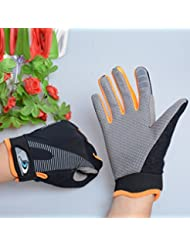 QHGstore Guantes de pantalla táctil unisex respirable Wearproof de Deportes completo dedo guantes naranja L