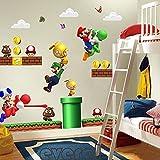 Super Mario Cartoon Wall Stickers by Room DÃÂcor For Kids