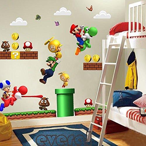 Super Mario Wandaufkleber (Bros Tuch Mario)