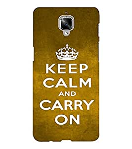 EPICCASE Carry on Mobile Back Case Cover For OnePlus Three (Designer Case)