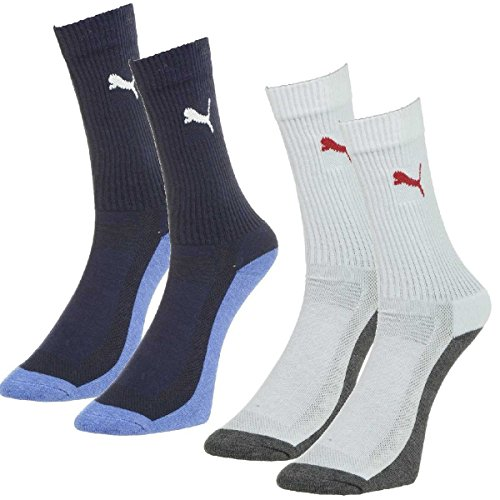 Puma Performance Crew Socks 2 Pack White-Blue AW15-M/L