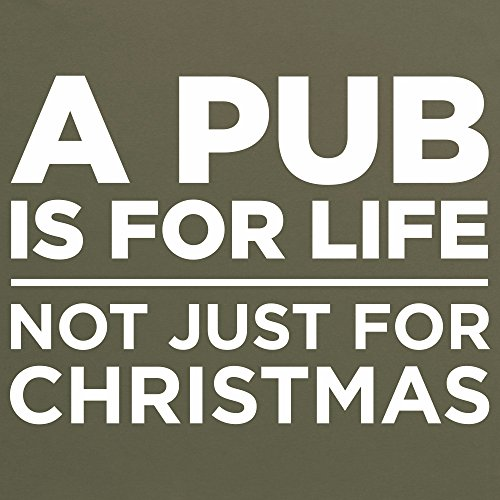 A Pub Is For Life T-Shirt, Herren Olivgrn