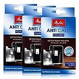 3er Pack Melitta ANTI CALC 2 x 40g für Kaffee-/Espressomaschinen - 1500804 -