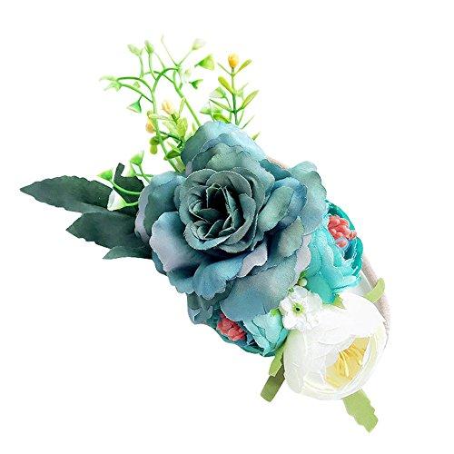 PRETTYEST Blumenmädchen Blumenkranz Set-Handwerk Blumenkrone Stirnband Blume Stirnband Blumenstirnband Stirnbänder Headwear Mädchen Babygeschenke (Stirnbänder Handwerk Mädchen)