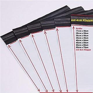 logei® 100St Folienversandtaschen Plastikversandbeutel Versandbeutel Warenbeutel Versandtasche, undurchsichtig, 40 x 50cm