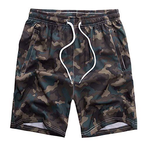 KSITH Sommer Herren Sport Shorts Lose Beiläufige Schnelltrocknende Strandhose Kordelzug Elastische Taille Badehose