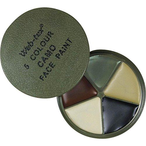 Web-Tex - Paleta de pintura para cara (5 colores para camuflaje)