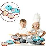 Bescita Pretend Spielzeug - DIY Mini Kitchen Play Little Chef Edelstahl Geschirr Spielzeuge Kochgeschirr Küche Spielzeug Küche Spielzeug Töpfe Pfannen Geschenk Pretend Toy Geschenke