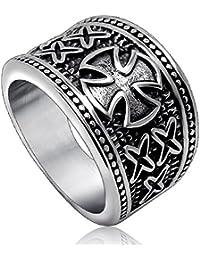 BOBIJOO Jewelry - Chevalière Homme Bague Anneau Ordre des Templiers Croix  Pattée Design Tendance 856415451a04