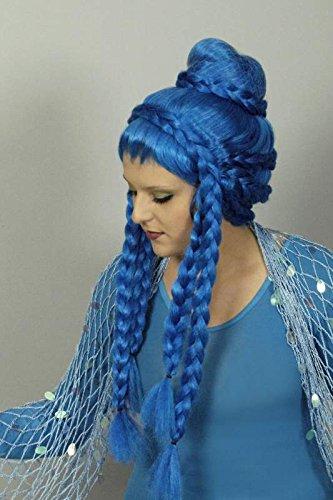 K11273610 Perücke türkis Meerjungfrau (Ariel Erwachsene Für Kostüme Prinzessin)