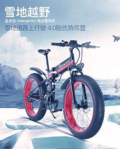 """XXCY faltendes elektrisches Fahrrad 500w E-Bike 20""""* 4.0 Fetter Reifen 48v 15ah Batterie LCD-Anzeig"""