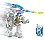 RC Remote Control Fighting Robot - Talking Kids Toy Robot with Sound, Lights and Music - Walking, Shooting Simple To Use RC Robot Toy - Shoots Frisbees and Dances too - PL9029 - Playtech Logic - amazon.co.uk