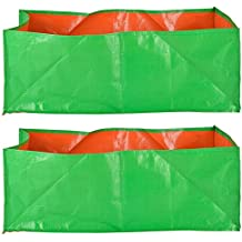 """Evergreen Terrace Gardening Leafy Vegetable Green Grow Bag (18"""" X 12 """" X 9"""" ) - (Pack Of 2)"""