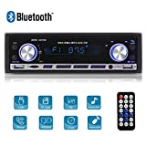 Autoradio Bluetooth, Stereo Auto Bluetooth Ricevitore, MEKUULA 1-din Auto Lettore MP3, 4x60w MP3 Car Radio Ricevitore Auto Audio FM Riproduttore USB/SD / AUX con Telecomando