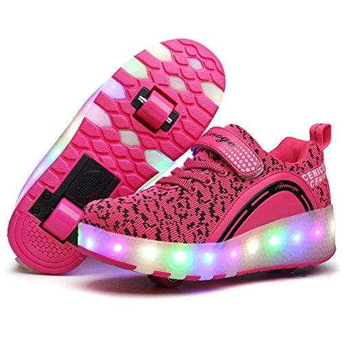 Unisex Led Luz Automática de Skate Zapatillas con Ruedas Zapatos Patines Deportes...