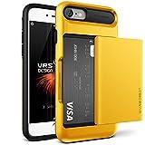 """Coque iPhone 7, VRS Design [Damda Glide] [Jaune] - [Porte coulissante semi-automatique][Housse de Protection][Fente pour Carte][Anti Scratch Etui][Anti Chocs Case] Pour Apple iPhone 7 4.7"""""""