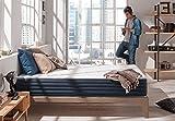 Matelas AURA 140 x 190 cm à mémoire de forme Thermosoft® Viscotex® + mousse Blue latex® à 7 zones de...