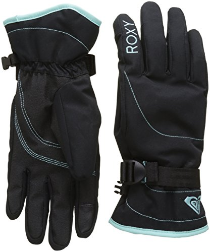 Roxy Damen Solid Jetty-Snowboard/Ski Gloves, Anthracite, L